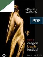 Oregon Bach Festival 2011 Season Brochure