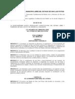 ley orgánica del municipio libre del estado de san luis potosí
