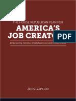 The House Republican Plan for America's Job Creators