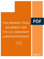 THE ORGANIC FOOD MOVEMENT AND THE U.S. IMMIGRANT LABOR EXPERIENCE