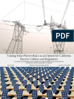 Thesis - Valuing Solar Photovoltaics as an Option for California Electric Utilities and Regulators