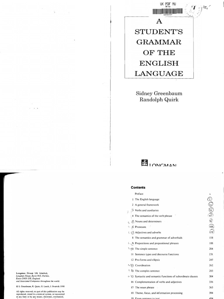 Greenbaum quirk adverb adjective fandeluxe Image collections