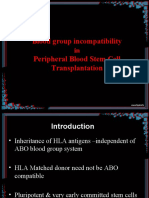 Peripheral Stem Cell Transplant With Blood Group Incompatibility-how to Manage