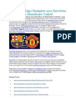 Hasil Final Liga Champion 2011 Barcelona vs Manchester United