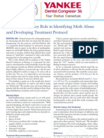 Clinicians Play Key Role in Identifying Meth Abuse and Developing Treatment Protocol
