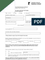 ApplicationForm11-12-MSc