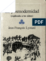 Lyotard La Postmodernidad explicada a los niños