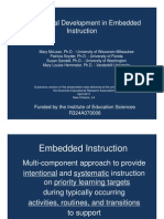 Professional Development in Embedded Instruction
