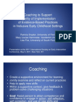 Coaching to Support Fidelity of Implementation of Evidence-Based Practices in Inclusive Early Childhood Settings