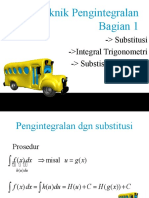 Teknik Pengintegralan