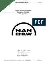 Alpha Lubricator System Operation (ALCU) Manual MC Engines