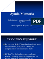 Ayuda Memoria Juicios Keiko Fujimori