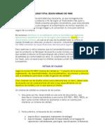 CALIDAD TOTAL SEGÚN NORMAS ISO 9000