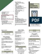 Church Bulletin - May 29th