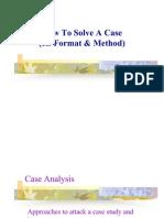 Case Analysis Format & Method