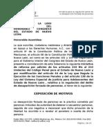 Iniciativa de reforma desaparición forzada en Nuevo León