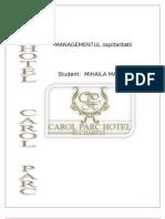Carol Parc Hotel - Managementul Ospitalitati