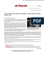 25-05-11 Nuevo Presidente del Colegio de Economistas se suma a planes de Rafael Moreno Valle