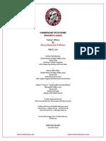 Menu - Vintners Lunch - 070811 - Artesa Vineyards & Winery