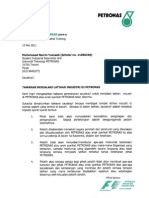 PETRONAS Carigali offer letter (internship)
