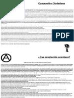Pabfleto anarquista, ciudadano revolución social