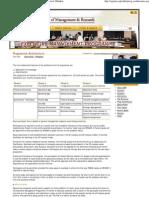 SPJIMR - SP Jain Institute - Program Architecture