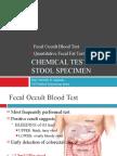 CM - Chemical Test for Stool Specimen