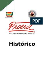 Histórico Proerd atualizado em setembro de 2010
