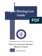 Massachusetts Attorney General's Open Meeting Law Guide