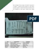 Organização Mesa Cirúrgica