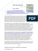 Code de Gestion Des Pesticides