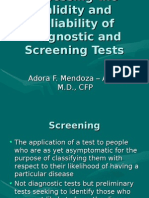 Assessing the Validity and Reliability of Diagnostic and Screening Tests