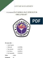 Struktur Organisasi Dan Pembagian Kerja 1EB03