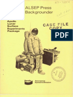 ALSEP Press Backgrounder. Apollo Lunar Surface Experiments Package