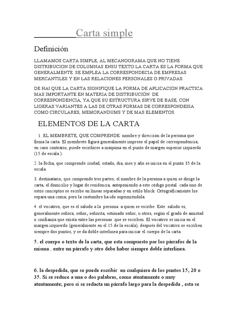 Carta Simple - photo#15