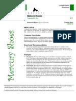 Denbleyker Financial Assessment of Mercury Shoes