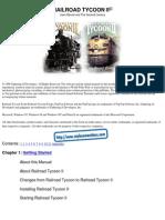 Railroad Tycoon II - Platinum - Manual - PC