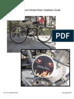66cc 80cc Grubee SkyHawk GT5 Bike Engine Kit Installation