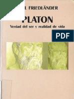 Paul Friedlander - Platon Verdad Del Ser y Realidad de Vida