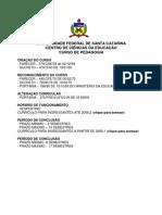 Pedagogia UFSC Datas Curriculo PDF