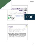 Qualidade de Software - Aula 7 - MPS-BR[1]