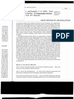Point Method of Job Evaluation