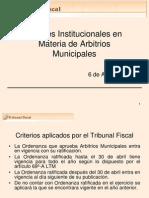 Aportes TF Arbitrios Municipales