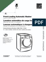 Washing Machine Manual Kenmore HE5t