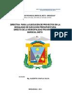 Directiva Obras Final 2011