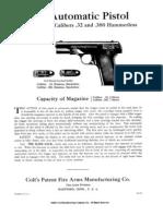 Colt 32 . .380 Hammer Less