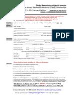 Application Form of Undergraduate