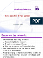 Ccnet Lec 08 Error Detection and Flow Control