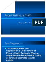 Report Writing in Health