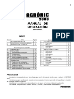 Manual Agronic 2000